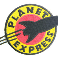 "Planet Express Futurama Iron On Embroidered Patch 4.2""/11cm"