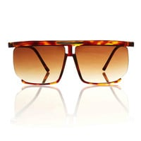 Karl Square Aviator Shades - Tortoise