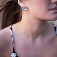On A Mission Earrings - Grey