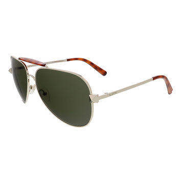 Valentino Light Gold/Blond Havana Aviator Valentino Sunglasses