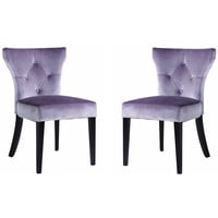 Elise Side Chair in Gray Velvet (Set Of 2)