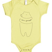 Love Yourself Bear-Unisex Lemon Baby Onesuit 00