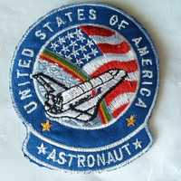 United States Of America Flag Astronaut Nasa Space Rainbow applique iron on patch