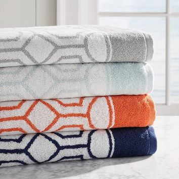 NOVA JACQUARD QUICK-DRY BATH TOWELS