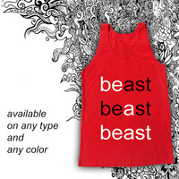 Beast Tanktop Casual Wear Sporty Cool Tank top Funny Tank Cute Direct to garment