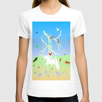 Unicorn Realm by Kat Worth T-shirt by Kat Worth