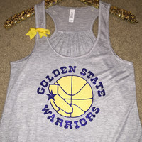 Golden State Warriors Tank - Warriors Tank - NBA Tank - Ruffles with Love