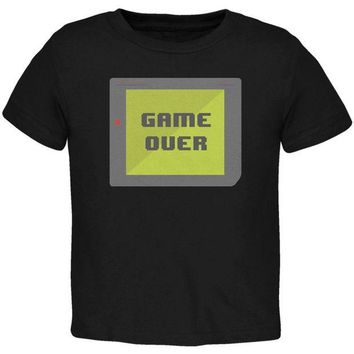 DCCKU3R Halloween Old School Gamer Game Over Toddler T Shirt