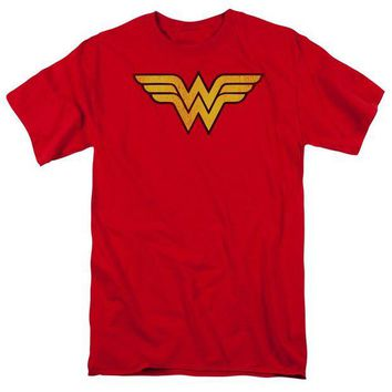 DCCKM83 Wonder Woman Logo Dist Short Sleeve Adult 18/1