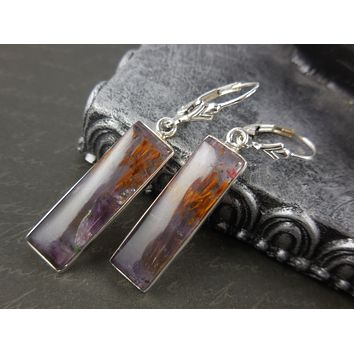 Cacoxenite Sterling Silver Earrings