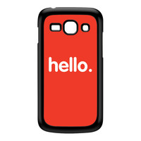 Hello Black Hard Plastic Case for Galaxy Ace 3 by textGuy