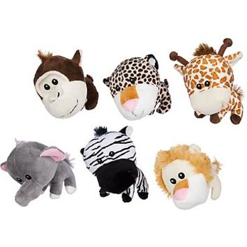 Petco Big Head Jungle Animal Plush Dog Toy