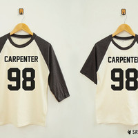 Carpenter 98 Shirt Rock Shirt Word Shirt Instagram Tumblr Fashion Baseball Tee Raglan Tee Baseball Shirt Unisex Shirt Women Shirt Men Shirt