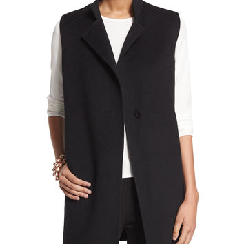 High-Collar Double-Face Vest, Size:
