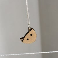 lasercut wooden cat necklace