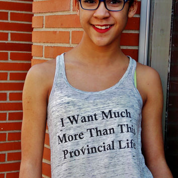 More Than This Provincial Life Flowy Tank Top. Ladies Sizing.