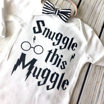 Snuggle This Muggle Harry Potter Inspired Onesuit