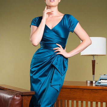 Pinup Couture Ava Dress in Teal