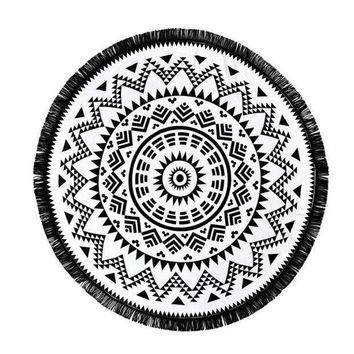 ESBU3C Stylish 2016 New Arrival Round Hippie Tapestry Beach Throw Roundie Mandala Towel Yoga Mat Bohemian Style Free Shipping JL23