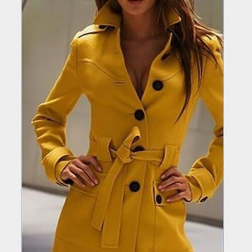 New fashion Autumn Winter 2016 plus size women clothing casual jacket waistcoat women wool coat overcoat