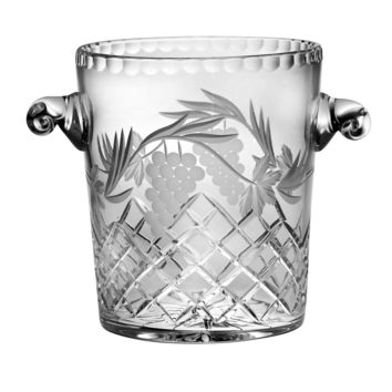 "Majestic Gifts C649GR Hand Cut Crystal Ice bucket 8.5""H"