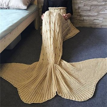 DCCKH3F Mermaid Party to Be Adored Warm Blanket (Big tail)