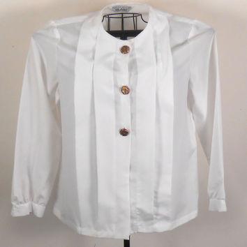 Womens  Blair Blouse White With Gold Buttons 1990s