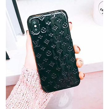 LV 2018 Hot ! Louis Vuitton Popular Pure Color iPhone 7 iPhone 7 plus - Stylish Cute On Sale Hot Deal Matte Couple Phone Case For iphone 6 6s 6plus 6s plus Black I-OF-SJK