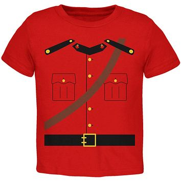 Halloween Canadian Mountie Police Costume Toddler T Shirt