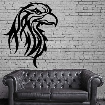 EAGLE HEAD BIRD TRIBAL ART DECOR Wall MURAL Vinyl Art Sticker Unique Gift M293