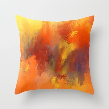 Expressions 5 Throw Pillow by Jai Johnson