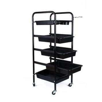 5 Tier Multifunctional Hairdressing Beauty Makeup Cart Coloring Spa Salon Cart Coloring Spa Salon Cart 1 Top Tray + 4 Pull-Out Drawers
