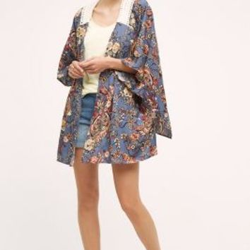 Violette Kimono by Anthropologie in Navy Size: One Size Tops
