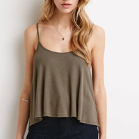 Ribbed Knit Trapeze Cami