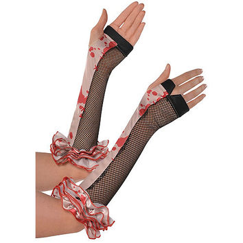 Freak Show Bloody Clown Arm Warmers 13 1/2in