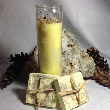 Special Offer Good Luck ritual, Candle and soap, Good luck ritual Kit 1 five days Loaded Good Luck Candle and 2 Handmade Herbal ritual Good
