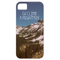 Go Climb A Mountain iPhone 5 Cover from Zazzle.com