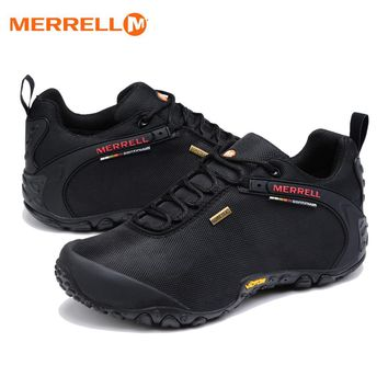 Original Merrell Men Breathable Camping Outdoor Sport Mesh Hiking Shoes For Male Waterproof Mountaineer Climbing Sneakers 39-44