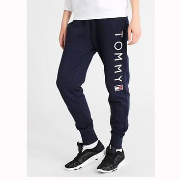 DCCKL72 x1love  'Tommy Hilfiger' Fashion Stretch Gym Sport Running Pants Trousers Sweatpants Trousers