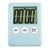 LCD Digital Kitchen Timer Count Down Up Magnetic Adsorption    Sky Blue