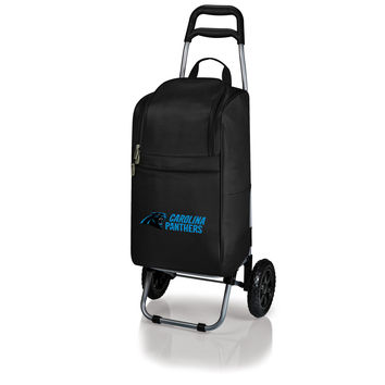 Carolina Panthers - Cart Cooler with Trolley (Black)