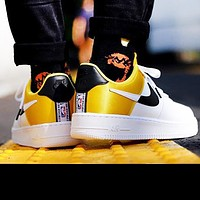 Nike AF1 NBA Limited Sneaker Clippers Silk Limited Air Force One White+Yellow