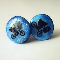 Disney's E.T. Sparkling Cold Porcelain Enamelled Earrings