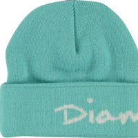 Diamond Og Script Fold Beanie Diamond Blue