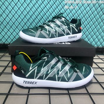 DCCK2 A119 Adidas Terrex CC Boat x Kith Mesh breathable speed interference water shoes Green