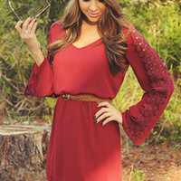 Love I Need Dress: Burgundy | Hope's