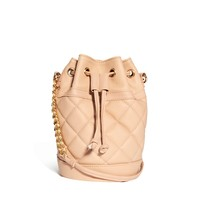 ASOS Quilted Duffle Bag With Chain Handle