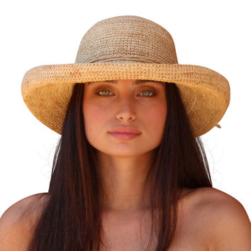 best raffia hats for products on wanelo