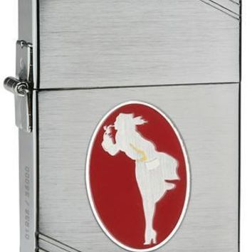 Zippo Windy Collectible Brushed Chrome Lighter