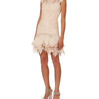 Jonathan Simkhai Corded Lace Ruffled Mini Dress - INTERMIX®